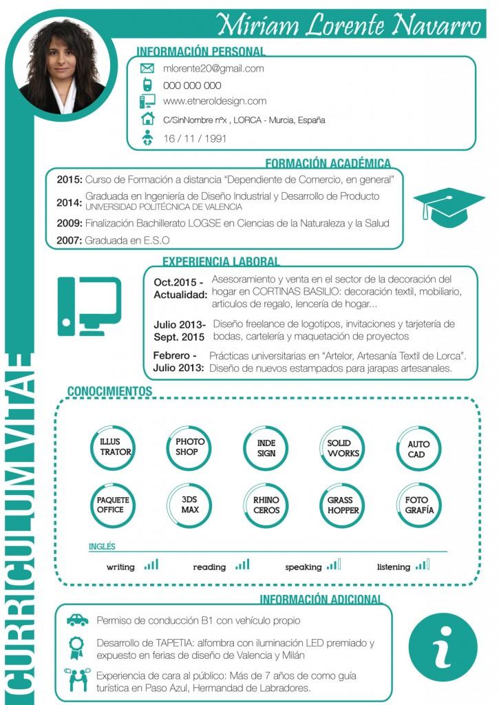 Diseno De Curriculum Vitae Etnerol Design